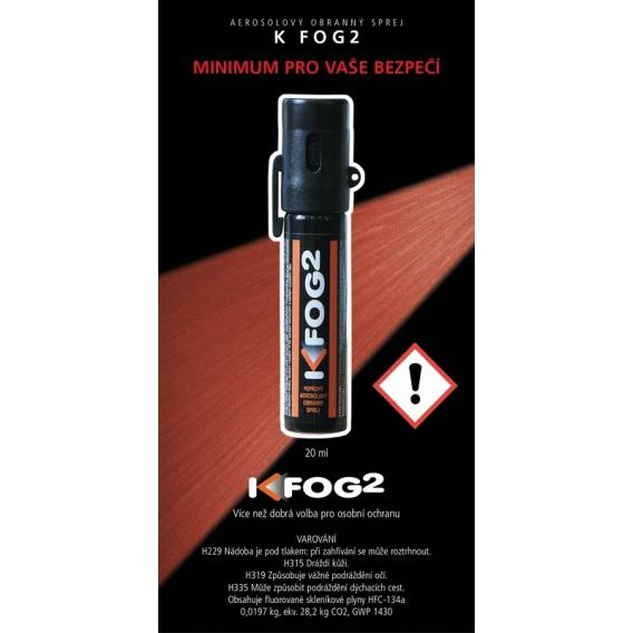 Aerosolový obranný sprej K FOG2 20ml