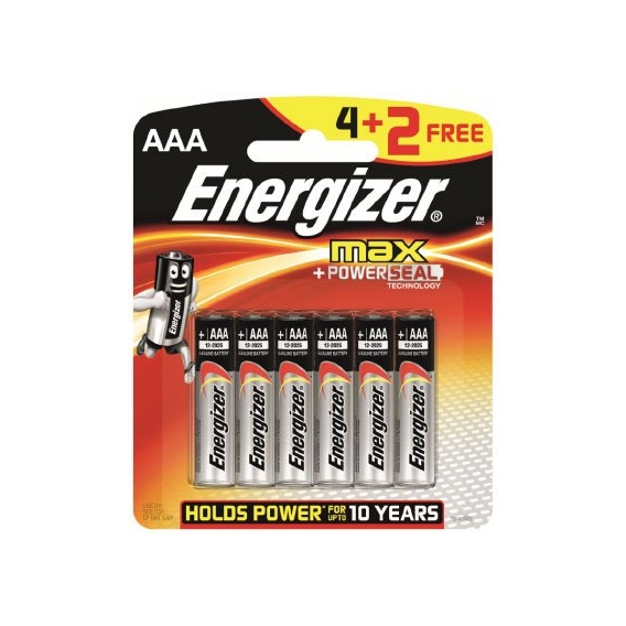 Energizer max +POWER SEAL AAA 1,5V (4+2)