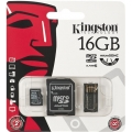 Kingston microSDHC 16GB Mobility Kit G2 + adapter +USB čítačka MBLY10G2/16GB