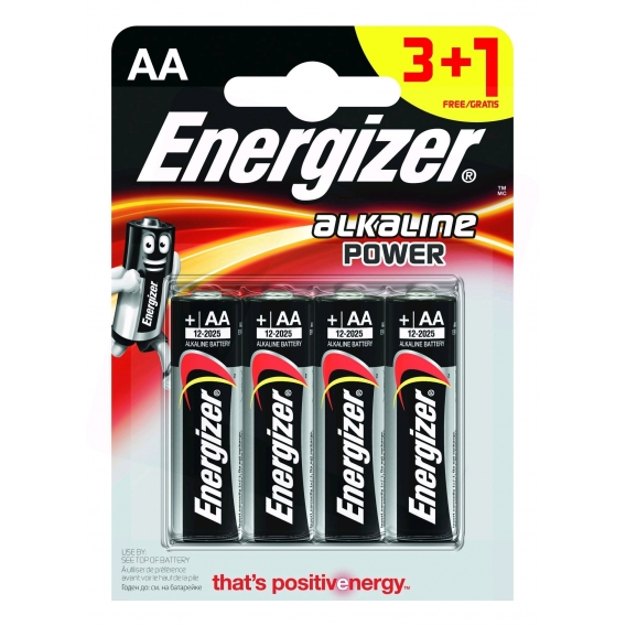 Energizer Alkaline Power AA-LR06 3+1ks