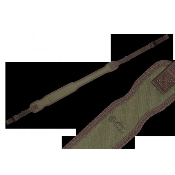 Remeň na pušku CZ nylon/guma, zelený