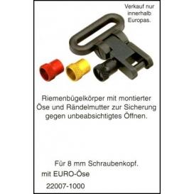Pútko na remeň - rýchloupínacie EURO s poistkou