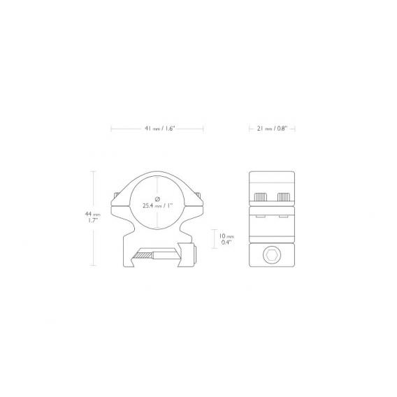 Montáž Hawke Match, dvojdielna, (Weaver/25,4mm/Stredná)