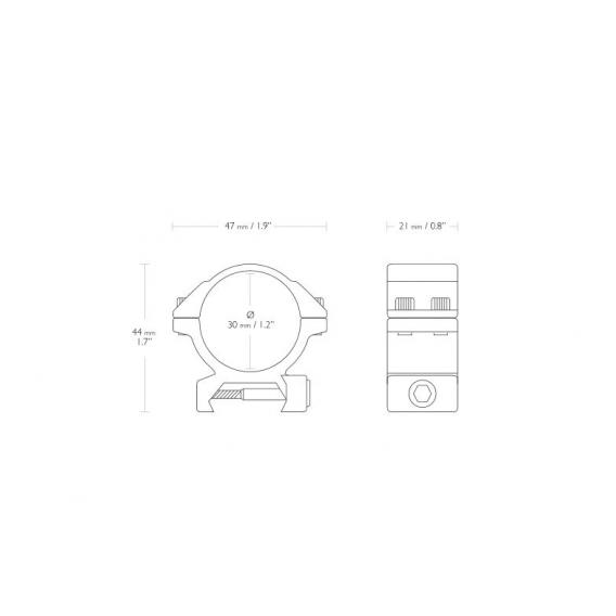 Montáž Hawke Match, dvojdielna, (Weaver/30mm/Nízka)