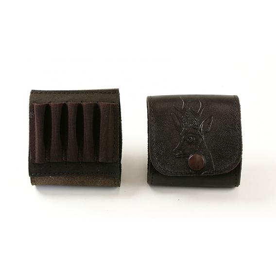 Kožené puzdro na guľové náboje - srnec