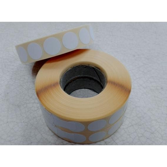 Terčové zálepky, 16 mm, biele, 2000 ks/kotúč