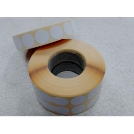 Terčové zálepky, 16 mm, biele, 2000ks / kotúč