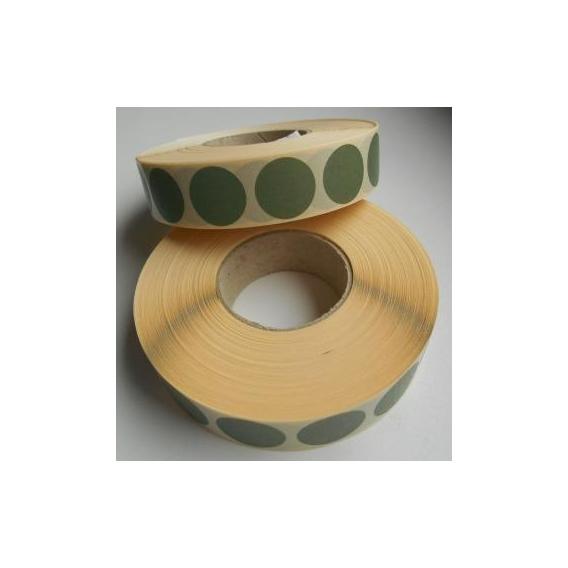 Terčové zálepky, 16 mm, zelené, 2000 ks / kotúč