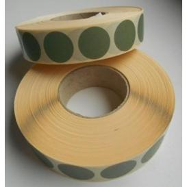 Terčové zálepky, 16 mm, zelené, 2000ks / kotúč