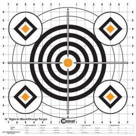 """Caldwell - vysokokontrastné terče """"čierna a oranžová"""", 16"""", balenie 10ks"""