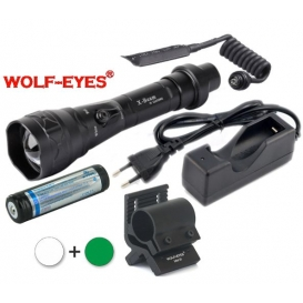 Wolf-Eyes X-Beam Biela XP-L HI V2, USB v.2017 + Zelená LED Full Set