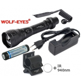 Wolf-Eyes X-Beam Biela XP-L HI V2, USB v.2017 + IR940 LED Full Set