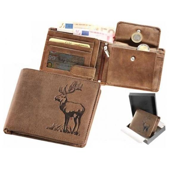 Kožená peňaženka jeleň ležatá