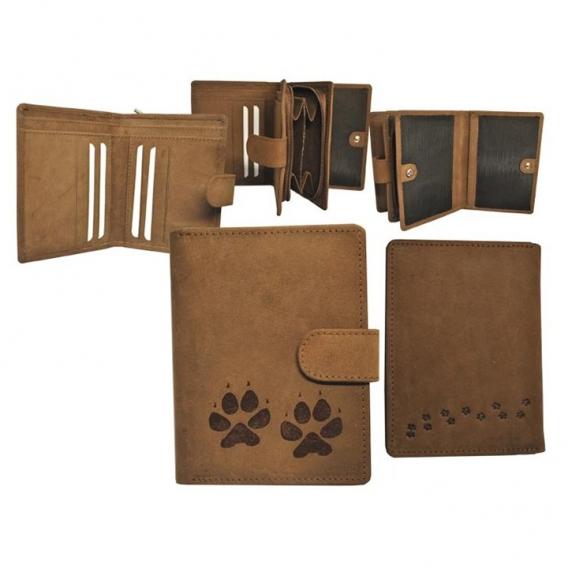 Dámska kožená peňaženka Psie stopy
