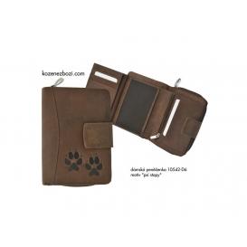 """Dámska kožená peňaženka 542 """"Psie stopy"""""""