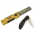 Diamond Combination Sharpener with Bonus Folding Knife
