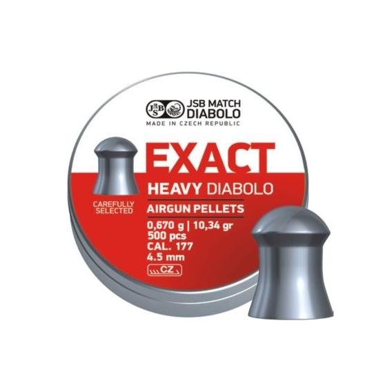 Diabolo JSB Exact Heavy 4,52mm/.177, 0,670g/10,34gr, 500ks
