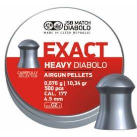 Diabolo JSB Exact Heavy 4,52mm/.177, 0,670g/10,34gr, 500ks