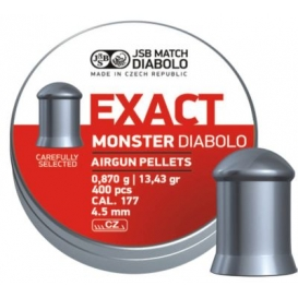 Diabolo JSB Exact Monster 4,52mm/.177, 0,870g/13,43gr, 400ks