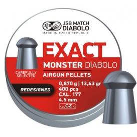 Diabolo JSB Exact Monster Redesigned 4,52mm/.177, 0,870g/13,43gr, 400ks