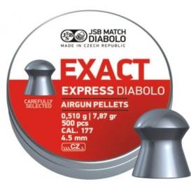 Diabolo JSB Exact Express 4,52mm/.177, 0,510g/7,87gr, 500ks