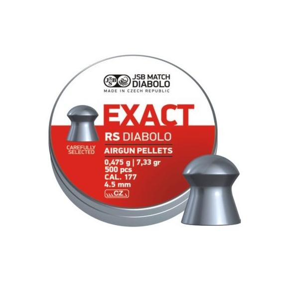 Diabolo JSB Exact RS 4,52mm/.177, 0,475g/7,33gr, 500ks