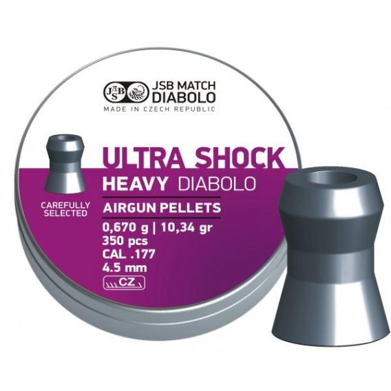Diabolo JSB Heavy Ultra Shock 4,50mm/.177, 0,670g/10,34gr, 350ks