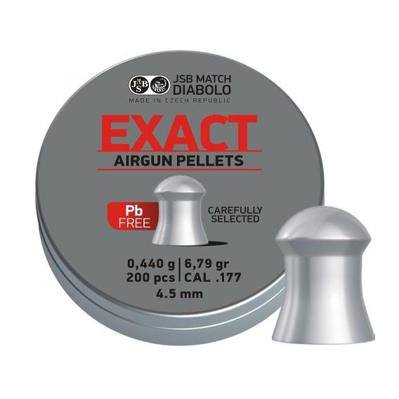 Diabolo JSB Exact Lead Free 4,52mm/.177, 0,440g/6,79gr, 200ks