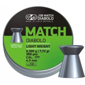 JSB Green Match Diabolo Light Weight 4,50mm/.177, 0,500g/7,72gr, 500ks