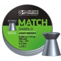 JSB Green Match Diabolo Light Weight 4,52mm/.177, 0,500g/7,72gr, 500ks
