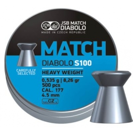 JSB Blue Match Diabolo S100 4,51mm/.177, 0,535g/8,26gr, 500ks