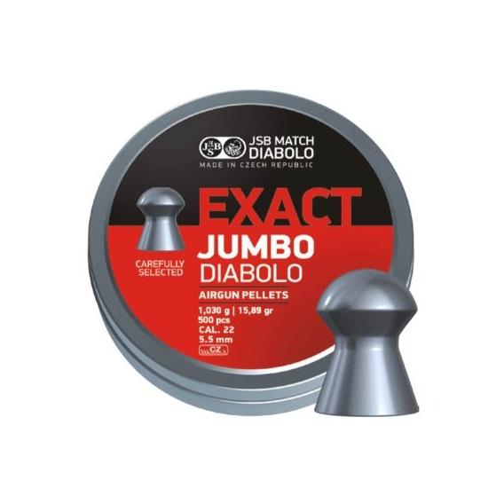 Diabolo JSB Exact Jumbo 5,50mm/.22,1,030g/15,89gr, 250ks