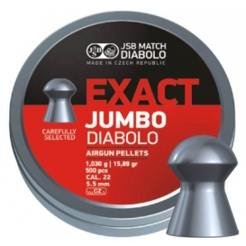 Diabolo JSB Exact Jumbo 5,52mm/.22,1,030g/15,89gr, 500ks