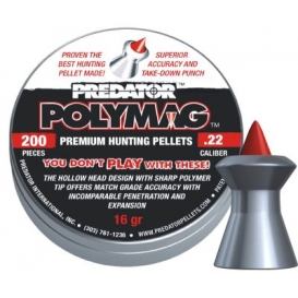 Diabolo JSB Predator Polymag 5,50mm/.22,1,030g/15,89gr, 200ks