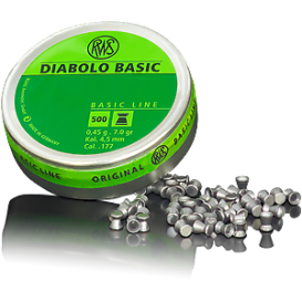 RWS Diabolo Basic 4,5mm/.177, 0,45g/7,0gr, 500ks