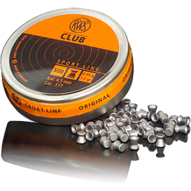 RWS Diabolo Club 4,5mm/.177, 0,45g/7,0gr, 500ks