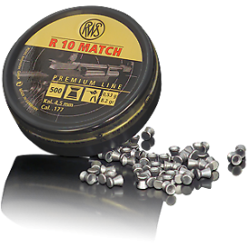 RWS R10 MATCH 4,5mm/.177, 0,53g/8,2gr, 500ks