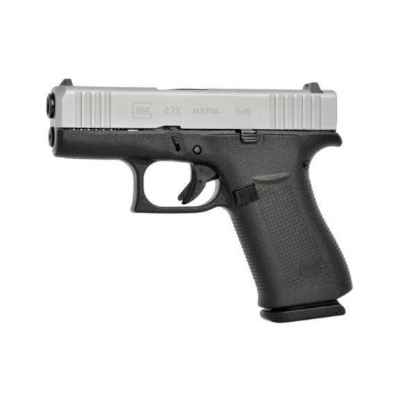 Glock 43X, kal. 9x19mm, 10r., Silver Slide (47804)