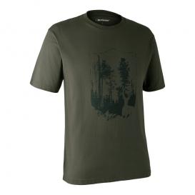 DEERHUNTER T-shirt with Shield - poľovnícke tričko
