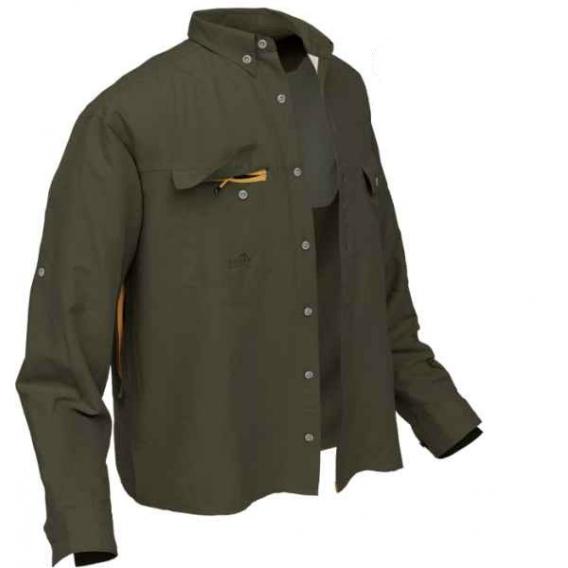 Košeľa Polybrush 2 Geoff Anderson dlhý rukáv - zelená