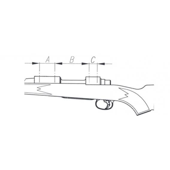 Picatinny lišta jednodielna Browning X-Bolt long 20 MOA