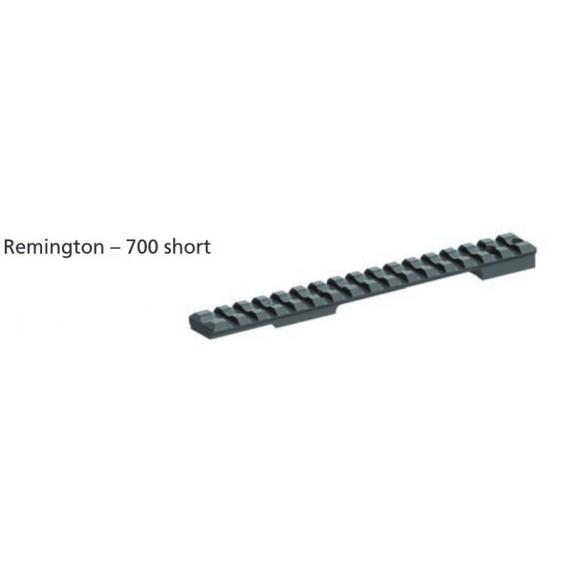 Picatinny lišta Remington 700 short 20 MOA