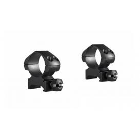 Montáž Hawke Weaver, dvojdielna, 25,4mm, stredná (6h matica)