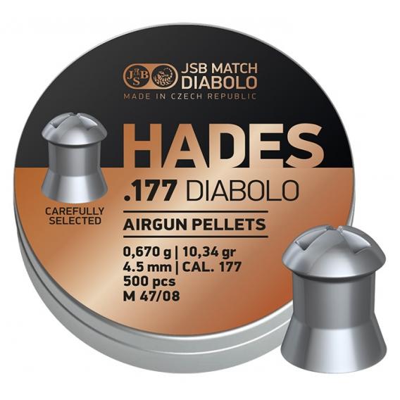 Diabolo JSB Hades 4,50mm/.177, 0,670g/10,34gr, 500ks