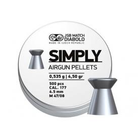 Diabolo JSB Simply 4,50mm/.177, 0,535g/8,26gr, 500ks